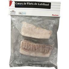 Auchan Coeur de filets de cabillaud 220g