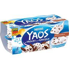 YAOS YAOS Yaourt à la grecque façon stracciatella 4x125g 4x125g