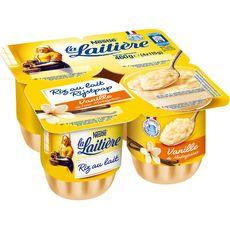 LA LAITIERE Riz au lait à la vanille 4x115g