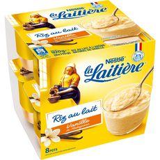 LA LAITIERE Riz au lait à la vanille 8x115g