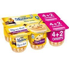 La Laitière riz au lait rhum raisins 4x115g +2offertes