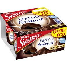 SVELTESSE Sveltesse ferme et fondant chocolat noir 4x125g