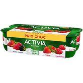 Danone Activia yaourts aux fruits mixés fruits rouges 8x125g