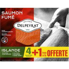 Maison Delpeyrat Saumon fumé d'Islande tranches x4+1 offerte 150g