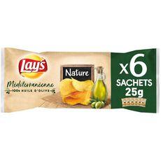 Lay's chips à la méditerranéenne salées 6x25g