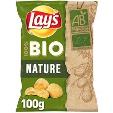 LAY'S Chips bio nature pointe de sel 100g