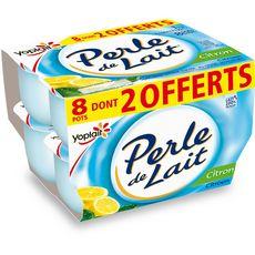 PERLE DE LAIT Yaourt aromatisé au citron 8x125g dont 2 offerts
