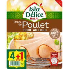 Isla Délice poulet tranche x4 +1offerte 150g
