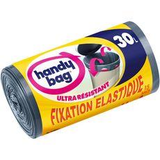 Handy Bag Sacs poubelle à fixation élastique 30l x15