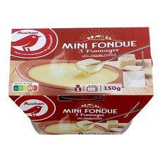 AUCHAN Fondue aux 3 fromages 150g
