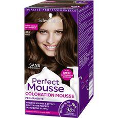 SCHWARZKOPF Perfect Mousse coloration permanente châtain chocolat 465 3 produits 1 kit