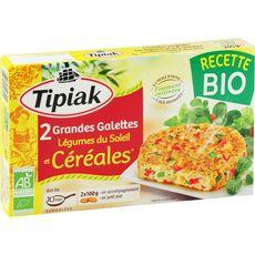 TIPIAK Galette aux légumes de soleil bio 2 pièces 200g
