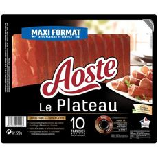 Aoste Plateau de jambon cru 10 tranches 220g