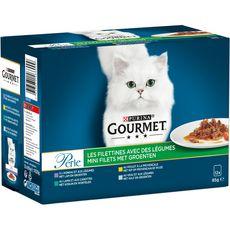 GOURMET Perle sachets repas pâtée en sauce viandes légumes pour chat 12x85g