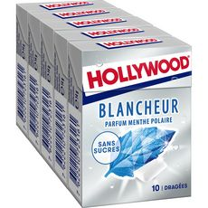 Hollywood HOLLYWOOD Chewing-gum blancheur menthe polaire sans sucres