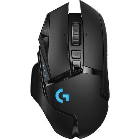 LOGITECH Souris Gaming sans fil G502 LIGHTSPEED Noire + accessoires