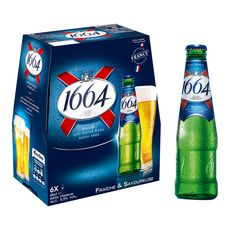 1664 1664 bière blonde 5,5% bouteilles 6x25cl 6x25cl