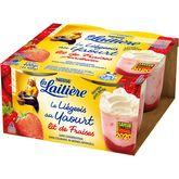 Nestlé La Laitière liégeois au yaourt sur lit de fraise 4x100g