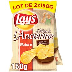 Lay's Chips à l'ancienne nature 2x150g