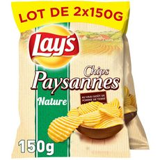 Lay's Chips paysannes nature 2x150g