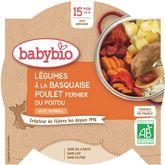 Babybio légumes à la basquaise et poulet 260g dès15mois