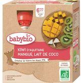 Babybio gourde kiwi mangue coco 4x90g dès6mois