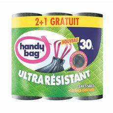 HANDY BAG Handy Bag Sacs poubelle ultra résistants à poignées 45x30l 45x30l