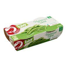 AUCHAN BABY BIO Bol haricots verts dès 4 mois 2x120g