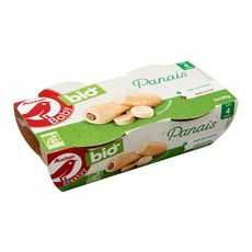 AUCHAN BABY BIO Auchan Baby Bio Bol purée de panais dès 4 mois 2x120g 2x120g