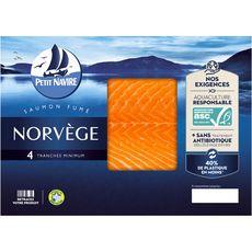 Petit Navire saumon fumé de Norvège x4 - 120g