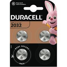 DURACELL Piles CR/2032 lithium 3v 4 pièces