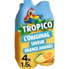 TROPICO Boisson aux fruits l'original saveur orange ananas 4x1,5l