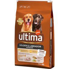 ULTIMA Croquettes au poulet pour chien labrador & golden retriever 7,5kg