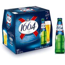 Kronenbourg 1664 bière blonde 5,5% bouteilles 12x25cl