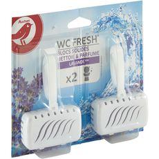 Auchan blocs solides wc nettoyants lavande 2x40g