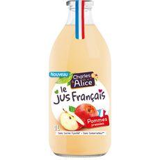 Charles et Alice Jus de pommes sans sucre ajoutés 1L