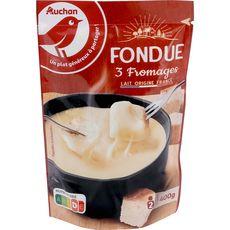 AUCHAN AUCHAN Préparation pour fondue aux 3 fromages 400g 400g