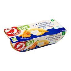 AUCHAN BABY BIO Bol carotte semoule patate douce bio dès 8 mois 2x200g