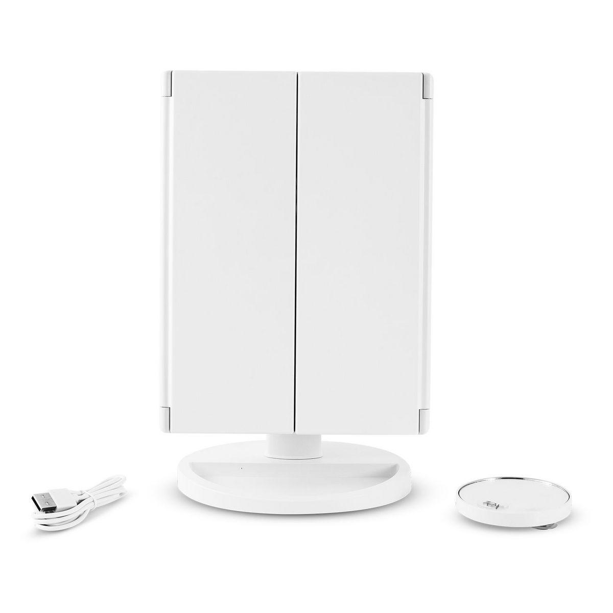 Miroir grossissant lumineux TRIPTY3 - Blanc