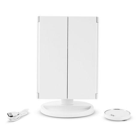 YOGHI Miroir grossissant lumineux TRIPTY3 - Blanc
