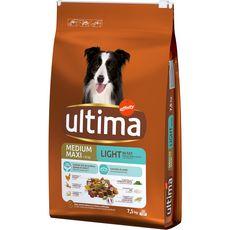 ULTIMA Croquettes au poulet light -25%MG pour grand chien adulte 7,5kg