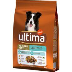 ULTIMA Medium maxi light croquettes poulet légumes pour chien 2kg