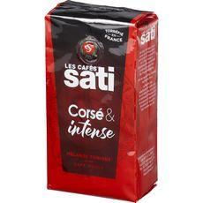 LES CAFES SATI Café moulu franc et intense mélange tonique 250g