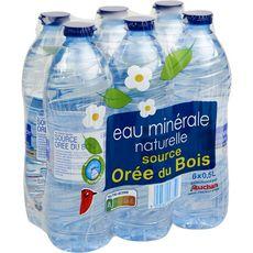 AUCHAN Eau minérale naturelle faiblement minéralisée bouteilles 6x50cl