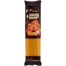 AUCHAN GOURMET Pâtes d'Alsace spaghetti aux œufs frais, blé français 250g