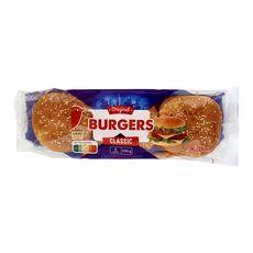 AUCHAN Auchan Pain hamburger x6 -330g 6 pièces 330g