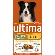 ULTIMA Croquettes Poulet légumes riz céréales pour grand chien adulte  7,5kg