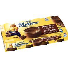 LA LAITIERE Pot de crème au chocolat 8x100g