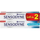 Sensodyne Sensodyne dentifrice soin extra fresh 2x75ml