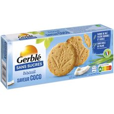 GERBLE Biscuit saveur coco sans sucres 132g